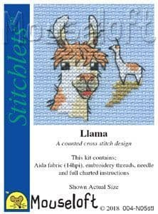 Mouseloft Llama Stitchlets cross stitch kit